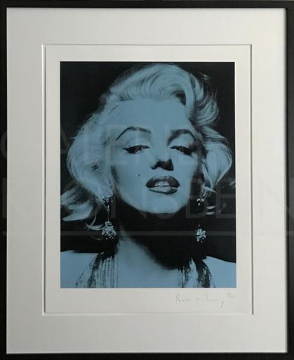 罗素·杨 - 版画 - Marilyn Portrait Portfolio, blue