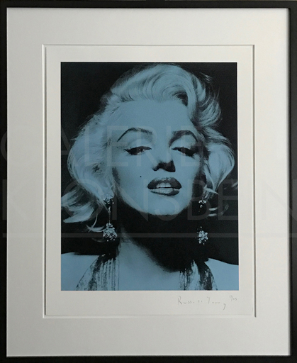 Russell YOUNG - Stampa Multiplo - Marilyn Portrait Portfolio, blue