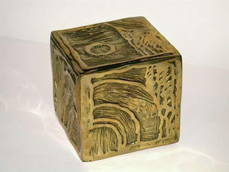 Pierre ALECHINSKY - Sculpture-Volume - Cube