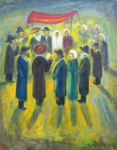 Simon Natan KARCZMAR - Pintura - *Le Mariage