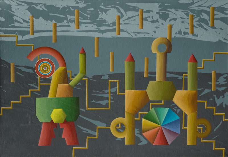 Enrique Rodriguez GUZPENA - Peinture - Seis, dos, uno.