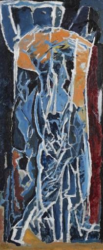 大卫·邦勃格 - 绘画 - Figure Composition (Stable Interior Series)