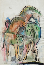 Josef PRESSER (1907-1967) - Two Horses and Figures