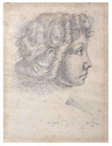 Giorgio DE CHIRICO - Disegno Acquarello - Alice