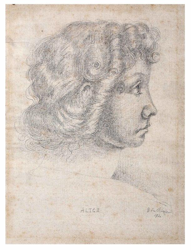 Giorgio DE CHIRICO - Dessin-Aquarelle - Alice