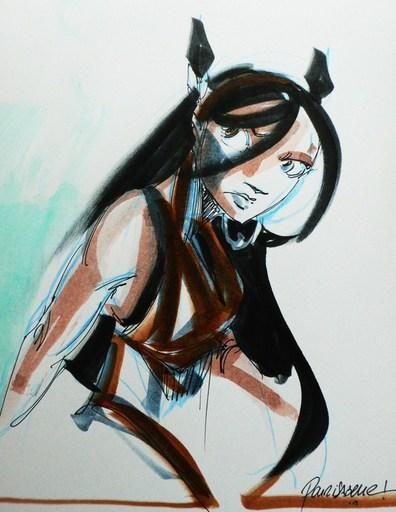 """Nicolas KERAMIDAS - Drawing-Watercolor - """"Luuna"""" Le crépuscule du Lynx"""