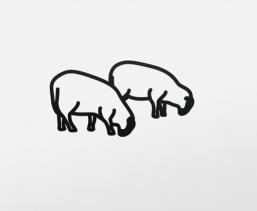 Julian OPIE - Sculpture-Volume - Sheep 3, from Nature 1 Series