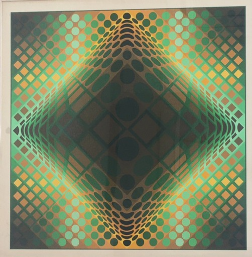Victor VASARELY - Grabado - Composition cinétique