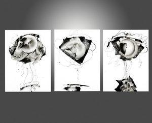 Newel HUNTER - Painting - « Frivolous triptych »