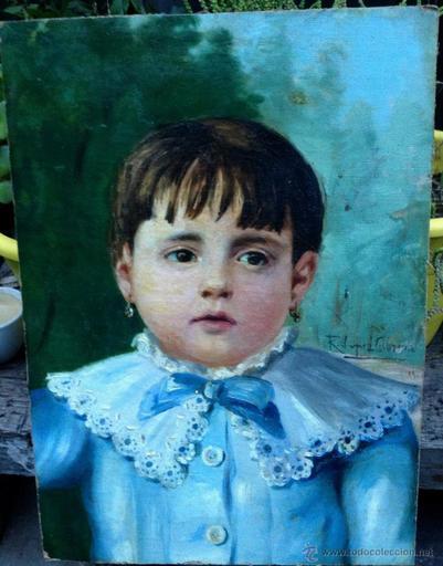 Ricardo LOPEZ CABRERA - Painting - Retrato de Niña