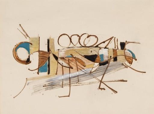 Nicolas DE STAËL - Zeichnung Aquarell - Recherche décorative pour le Cabaret du Théâtre des Champs E