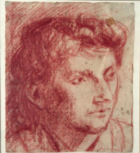 Giacomo MANZU - Drawing-Watercolor - viso di donna