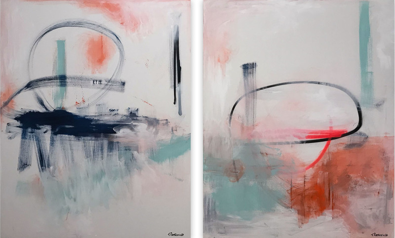 Tommaso FATTOVICH - Painting - Future Diptych