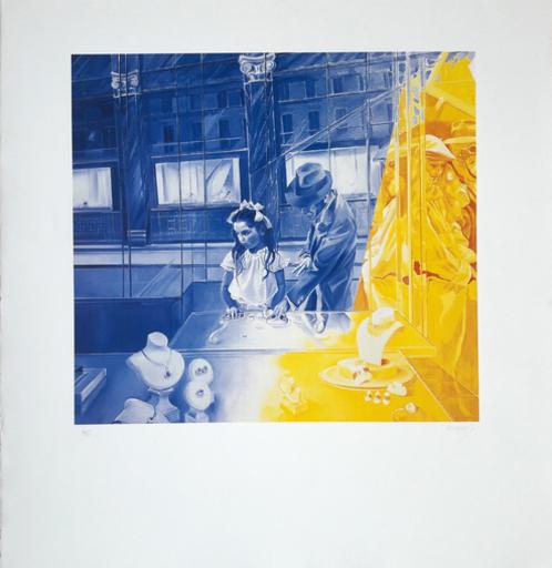 Jacques MONORY - Print-Multiple - La fille aux perles