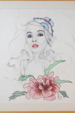 Steven KLUCHIK - Drawing-Watercolor - Portrait of Diana Ross