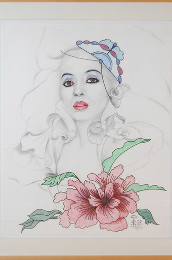 Steven KLUCHIK - Drawing-Watercolor - Portrait of Diana Ross
