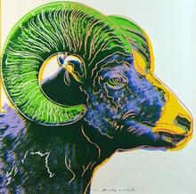 Andy WARHOL - Estampe-Multiple - Bighorn Ram from Endangered Species F&S II.302