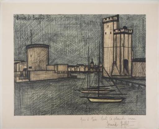 Bernard BUFFET - Stampa Multiplo - La Rochelle Harbour