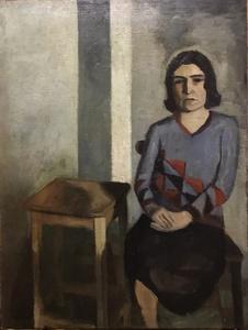 Sergio BONFANTINI - Painting - Ritratto della sorella Vera