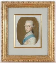 "Marcello BACCIARELLI (Attrib.) - Miniatura - ""Prince Stanislaw Poniatowski"", Pastel"