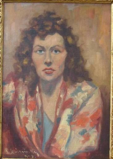 Julius BUKOVINSKY - Painting - Portrét mladej ženy
