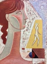 Mario TOZZI - Pintura - Busto