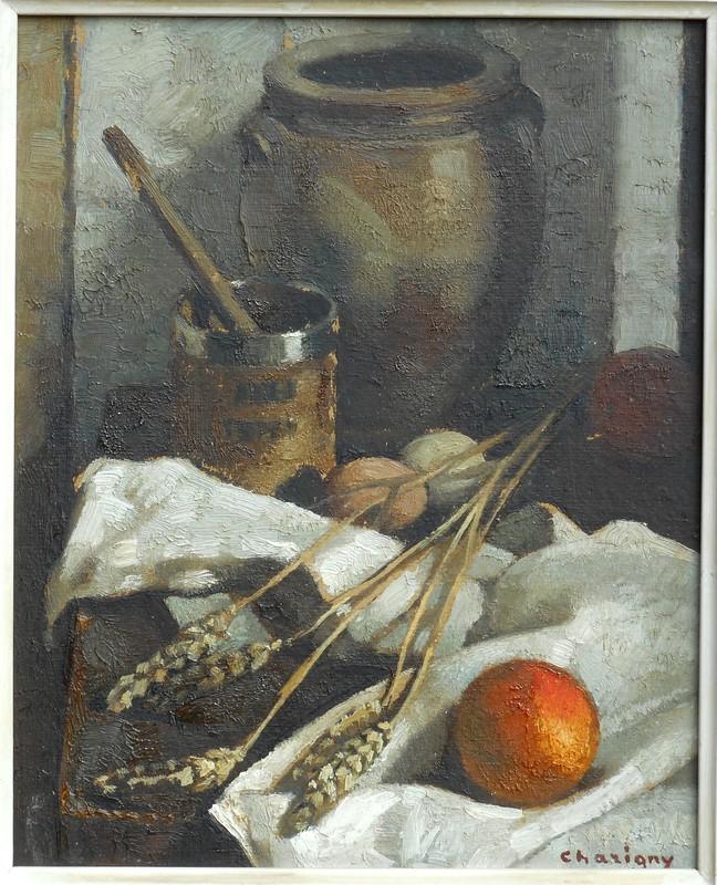 André CHARIGNY - Pittura - nature morte aux epis de blé