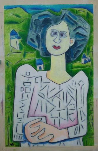 Harry BARTLETT FENNEY - Peinture - breton lady