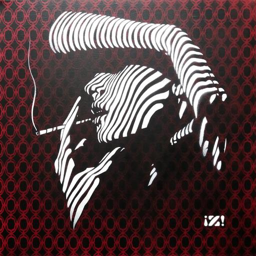 Rénald ZAPATA - Pintura - Derrière les persiennes