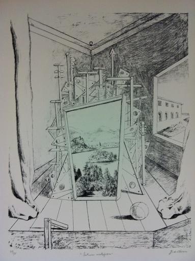 Giorgio DE CHIRICO - Print-Multiple - Interno metafisico