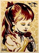 Shepard FAIREY - Radierung Multiple - War By Numbers - Gold