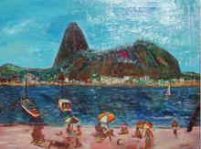 Carlos NADAL - Painting - Playa Rio de Janeiro