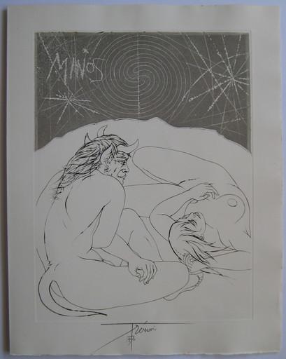 Pierre-Yves TRÉMOIS - Stampa Multiplo - GRAVURE 1970 SIGNÉE À L'ENCRE HANDSIGNED ETCHING MYTHOLOGIE