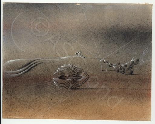 Otto TSCHUMI - Drawing-Watercolor - Weite Landschaft