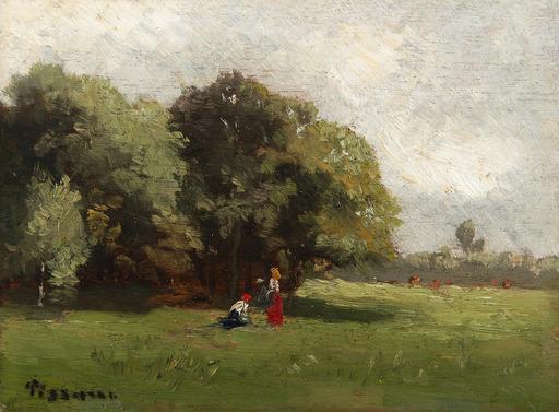 Camille PISSARRO - Pintura - Personnages à la lisière d'un bois