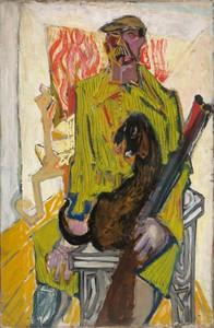 Gabriel LARGETEAU - Pintura - LE CHASSEUR