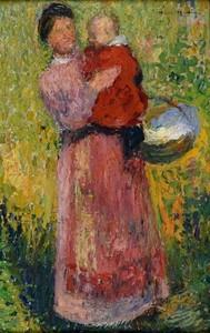 Henri MARTIN - Peinture - Femme et enfant dans les bras