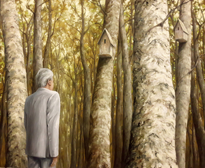 Julio FIGUEROA BELTRAN - Painting - The Watcher