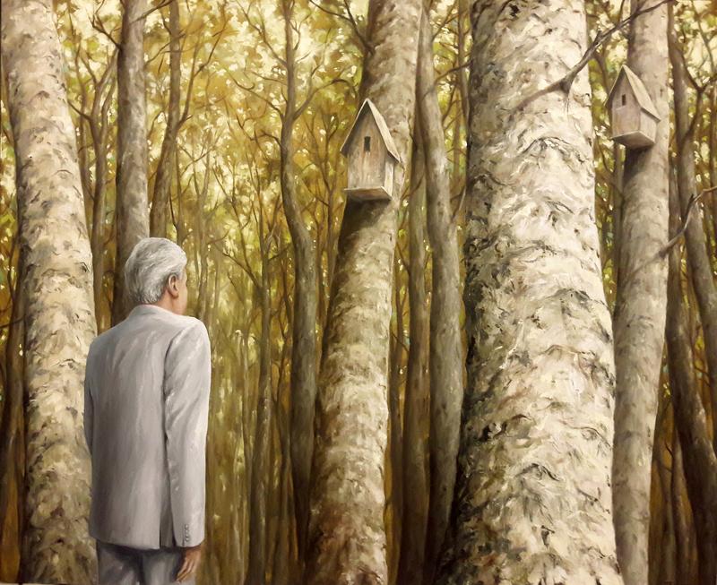 Julio FIGUEROA BELTRAN - Pittura - The Watcher