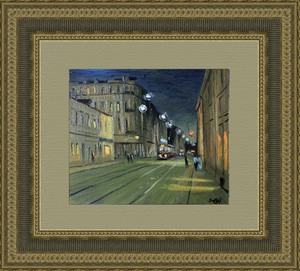 Valeriy NESTEROV - Pintura - Novokuznetskaya street. Moscow