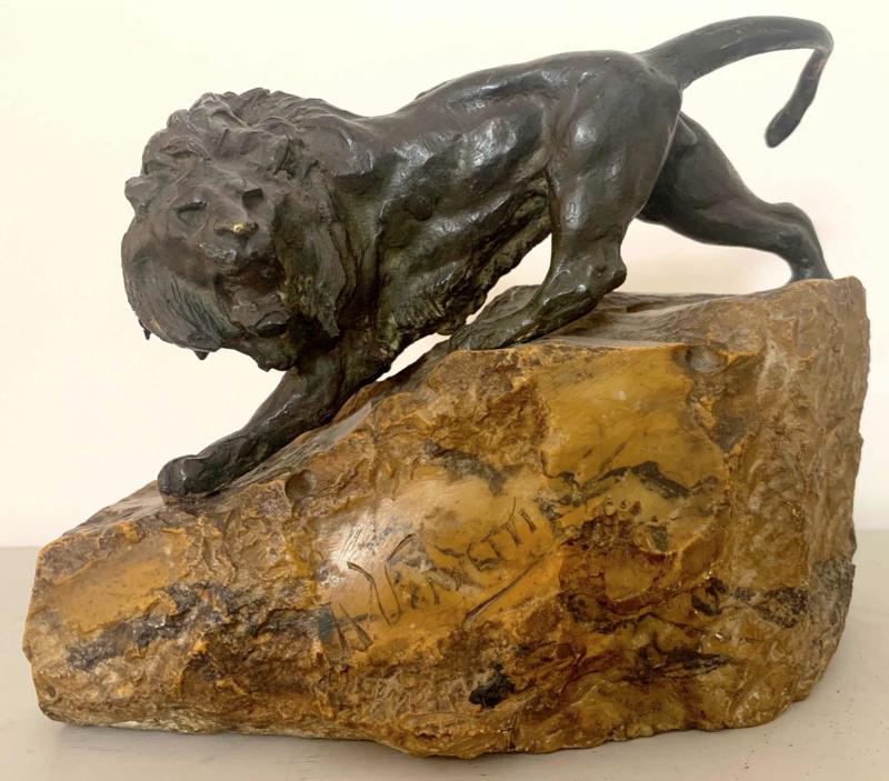 Angiolo VANNETTI - Skulptur Volumen - Leone