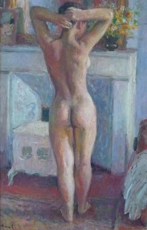 Pierre DEVAL - Painting - Nu debout de dos