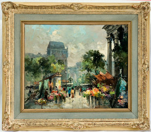Fernand CLAVER, Flower market in Paris