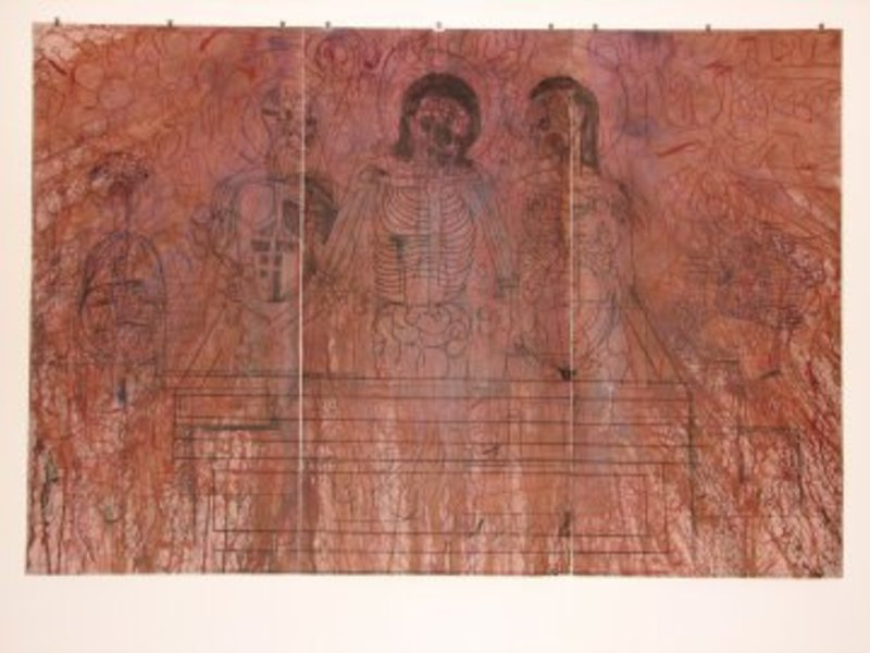 Hermann NITSCH - Print-Multiple - Kreuzabnahme,Tryptichon