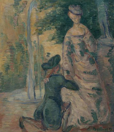 Emile Henri BERNARD - Peinture - Scène galante