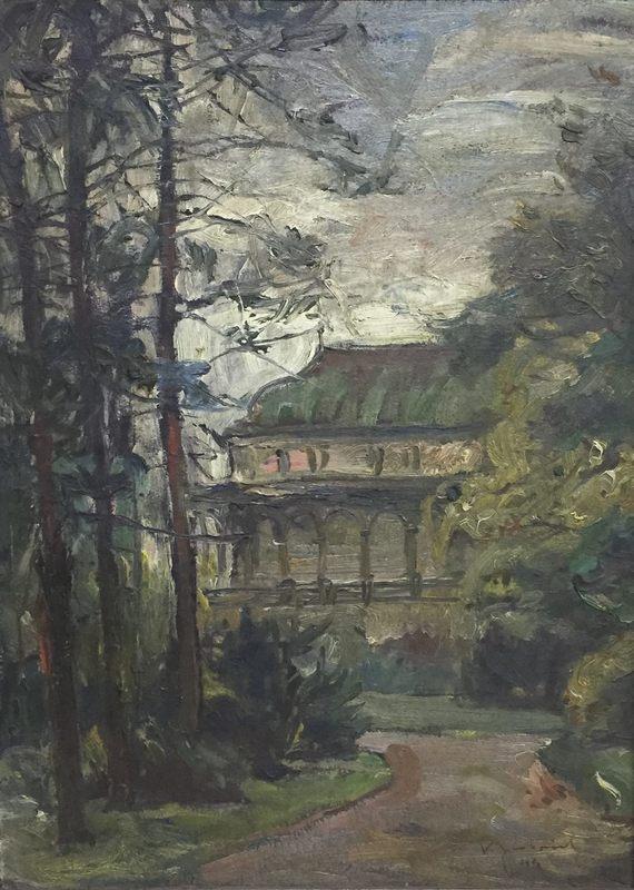 Karel GABRIEL - Painting - Prague - Castle Belveder