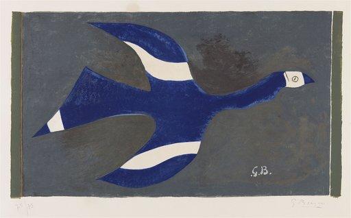 Georges BRAQUE - Grabado - Vol de nuit (Oiseaux XII)
