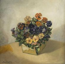 Sergei Yur'evich SUDEIKIN - Painting - Pansies