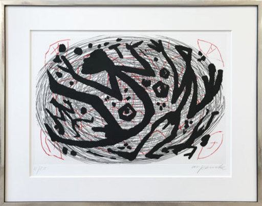 A.R. PENCK - Estampe-Multiple - Weltenstrudel - World Whirl