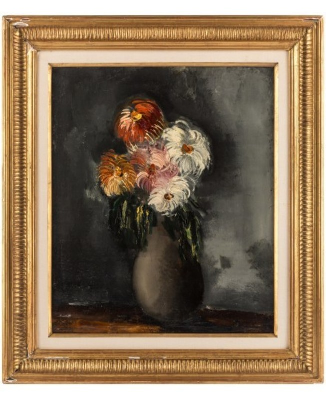 Maurice DE VLAMINCK - Pittura - les Chrysanthèmes